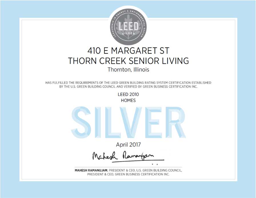 ThornCreek Senior Living Award